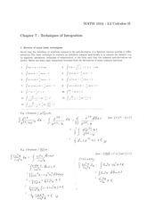 Chapter 7 - Technicques of Integration [Ans]