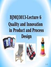 06 Quality product and process design