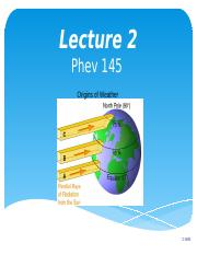 Lecture 2 Origins of Weather