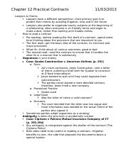 LA245 Chapter 12 Practical Contracts
