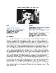 Notes on Charles Chaplin