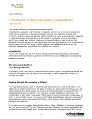 B3_ Into the Twenty-First Century_Contemporary Literature_UAcompleted (2).docx