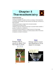 Study Guide on Thermochemistry