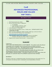 wgu professional roles and values task 1