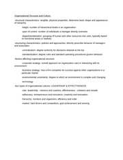 MGMT Organizational Structure Study Guide
