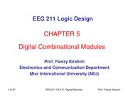 EEG211 Chapter_5_Combinational Digital Modules