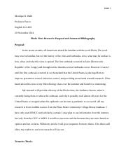 Ebola Virus Research - Proposal and Annotated Bibliography.docx