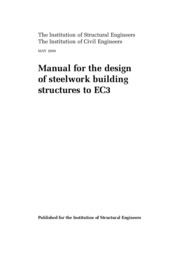 Eurocode 3 Manual for the design of steelwork building structures to EC3 (May 2000)