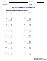 Hexadecimal Addition and Subtraction Worksheet.pdf