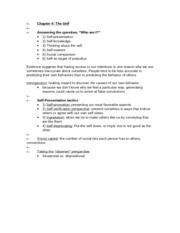 APSY270 Chapter 4 Review Sheet