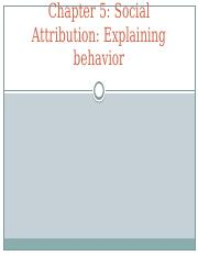 Chapter 5 - Social Attribution