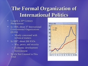 9 Formal Organization of International Politics