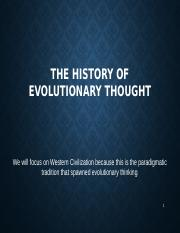 3 History of scientific thought  Online Fall 14