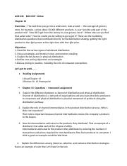 AGR 236   Ch 13 Assignments  BUS MGT  Online.docx