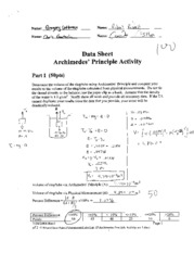 physics archimedes principle lab report Calculations and write lab report (due thursday  post-lab discussion on archimedes' principle hw:  we need these steps to solve any problem in physics: (i).