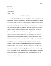 classification of solids essay