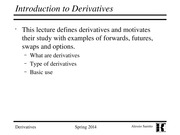 01.Introduction to Derivatives