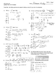 Derivatives_Test_Review_ANSWER_KEY
