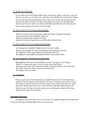 Outlining and Planning the Personal Essay Discussion 2 Week 2.docx
