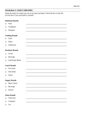 Worksheet 3 - Daily Brands