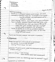 Organisms notes