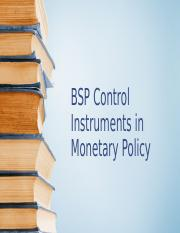 BSP Control Instruments in Monetary Policy.pptx