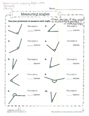 Complementary angles worksheet doc
