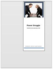 Power Struggle- Daimler Chrysler Merger.docx