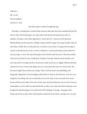 Final Revenant Essay Revised