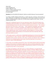 FASB Codification Case Week 4 Assignment 2 Ashe, Julian.docx