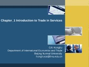 Chapter_1 Introduction to Trade in Service