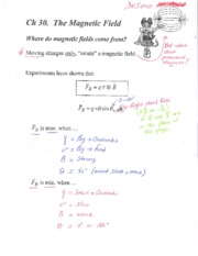 Ch30 Magnetic Forces Annotated Notes - Color