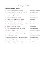 Writing_Chemical_Equations - Writing Chemical Equations Write ...