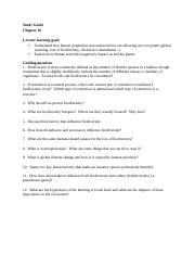 Study Guide Chapter 16