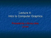lecture4 Data and Graphics 2011