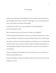 social sci phi st century skills critical thinking 3 pages critical thinking essay