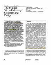 the Multics Virtual Memory- Concepts and Design .pdf