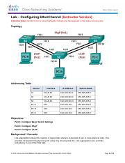 3.2.1.4 Lab - Configuring EtherChannel - ILM(1).docx
