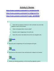 Activity 8 Review and Unit Test