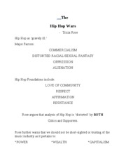 The Hip Hop Wars Overheads