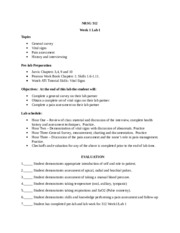 Week 1 Lab Worksheet General Survey, Vital Signs and Pain - WRITE ...