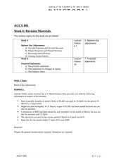 Week 6- Revision Problems