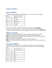 Lecture 6 Problems MTH 112