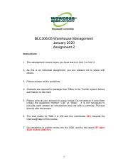 BLC 306.05 Warehouse Management Assignment 2 Questions.pdf