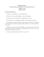 Spring 2014 Midterm 2 Solutions