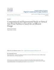 _Computational and Experimental Study on Vertical Axis Wind Turbin