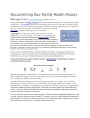Documenting Your Family Health History.docx