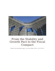 From the Stability and Growth Pact to the Fiscal Compact.docx