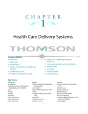 CH1 Health Care Delivery Systems