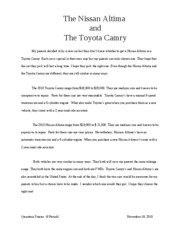 The Nissan and Toyota